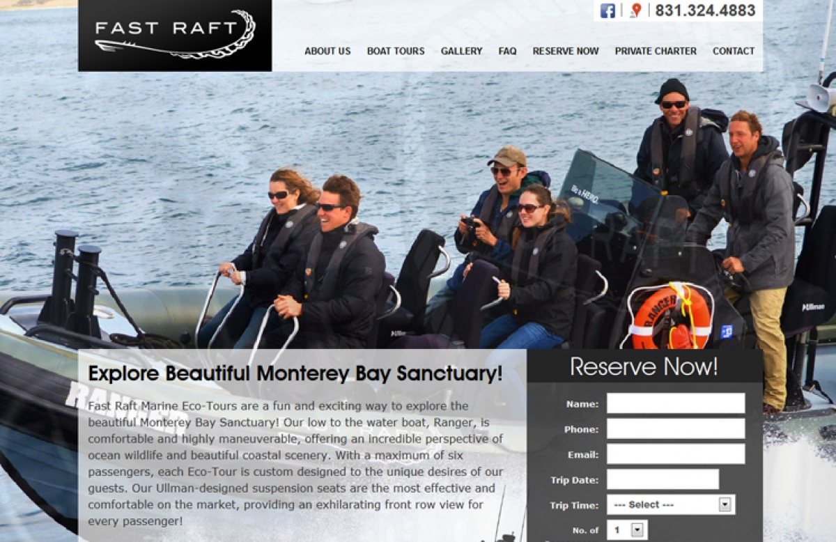 Launched Responsive Website for Fast Raft Marine Eco-Tours