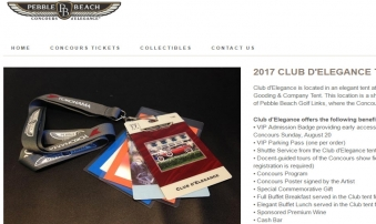 Launched Pebble Beach Concours d'Elegance eCommerce Store