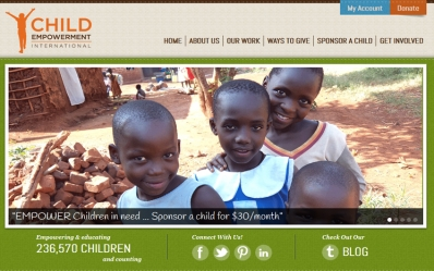 Launched New Responsive Website for Child Empowerment International