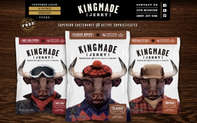 Launched Responsive Ecommerce Website for Kingmade Jerky